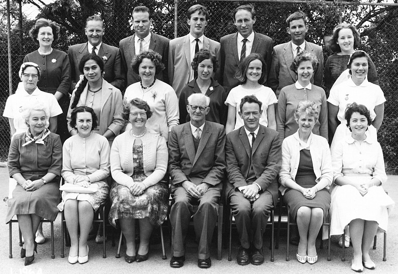 Khandallah School Staff 1964 - click on image for larger picture