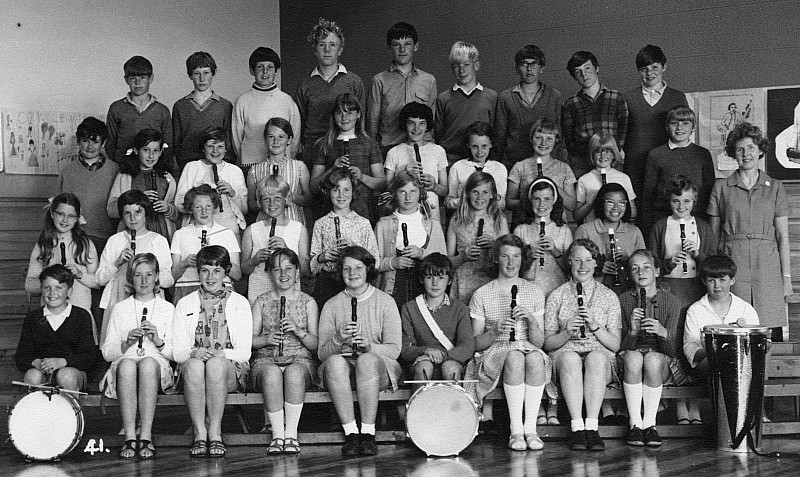 Khandallah School Band 1969 - click on image for larger picture